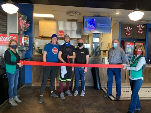 Ribbon cutting of Anthony's pizza