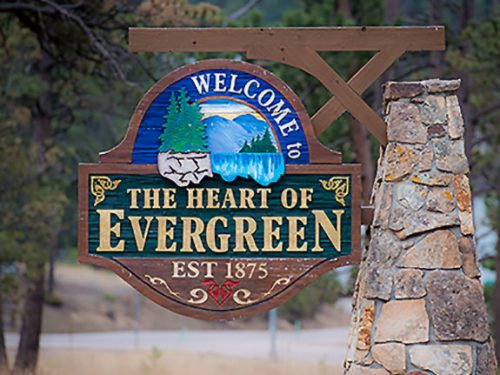 Evergreen Heart Of Photo Sign