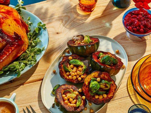dinner plate full of vegetables