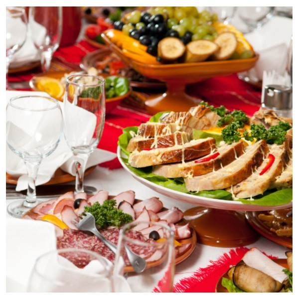 Picture of a food spread on a table